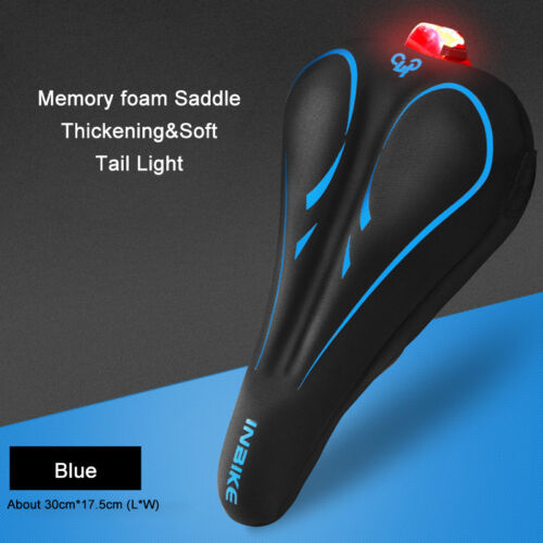 Bike Bicycle Saddle with Tail Light Comfortable Thicken Widen MTB Soft Cozy A875