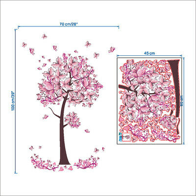 Adhesivos De Pared Mariposa Grande Flor  Vid Adhesivos De Pared