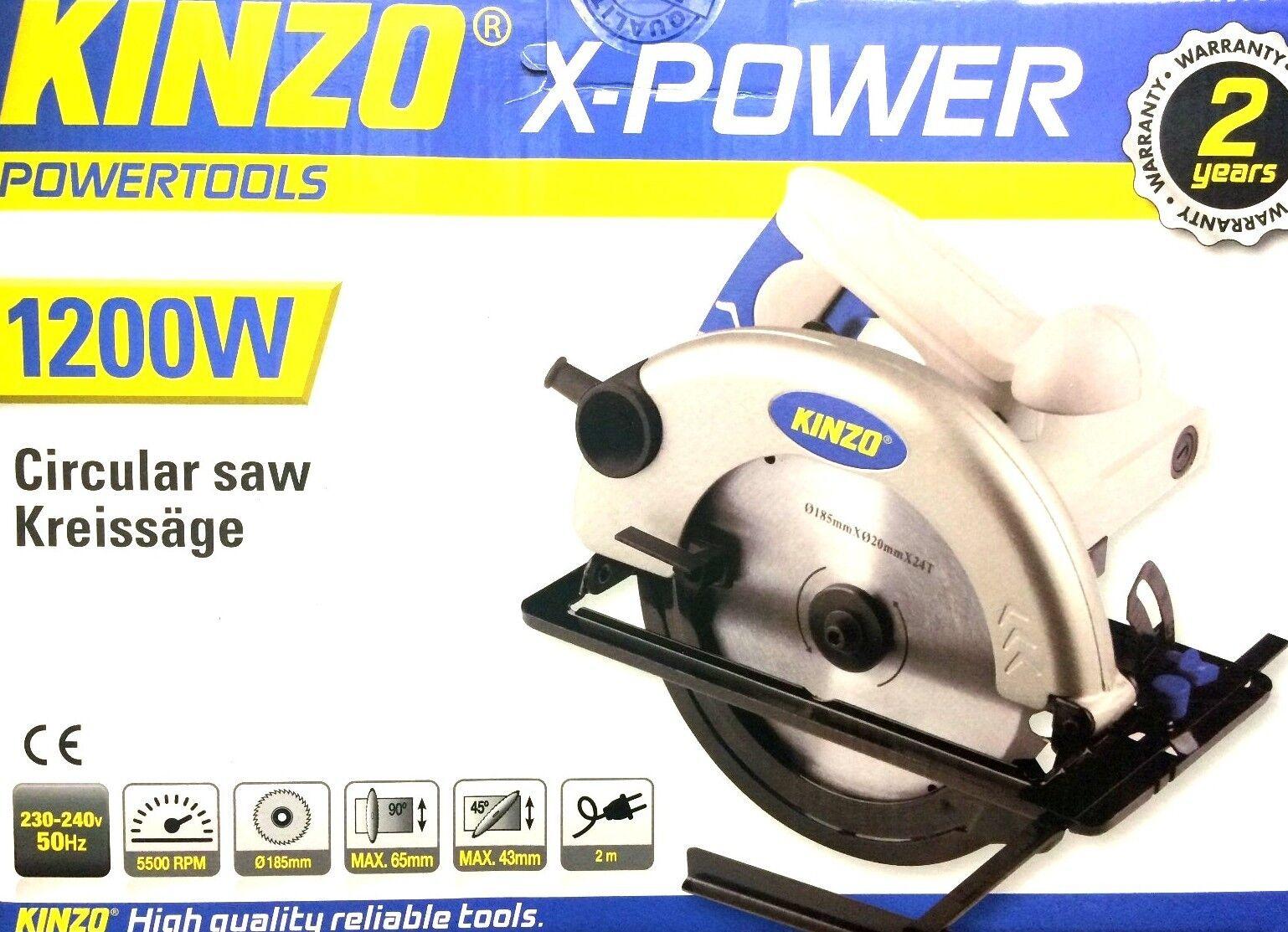 KINZO X-Power 1200 W KREISSÄGE HANDKREISSÄGE