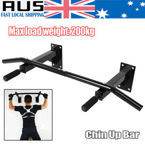 Image is loading Chin-Pull-Up-Bar-Wall-Mounted-Gym-Suspension-  sc 1 st  eBay & Details about Chin Pull Up Bar Wall Mounted Gym Suspension Exercise Door Workout Fitness