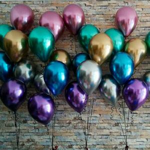 12-034-10Pcs-Metallic-Chrome-Ballons-Anniversaire-Mariage-Fete-Decoration-Mix-Color-Noel