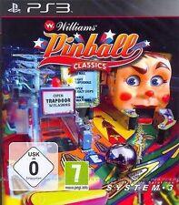Sony PS3 Playstation 3 Spiel William Pinball Classics Hall of Fame Williams *NEU