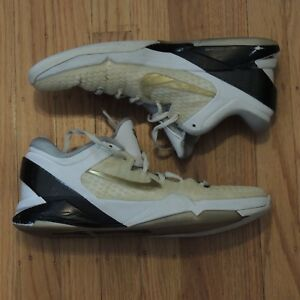 36b54ab5e0147 Nike Zoom Kobe VII 7 System Elite sz 12 White Gold Black MVP BEATERS ...