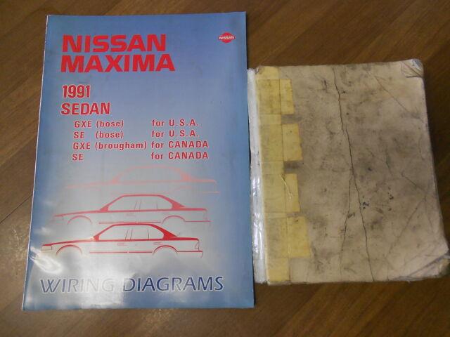 1991 Nissan Maxima Service Shop Repair Manual Set Factory