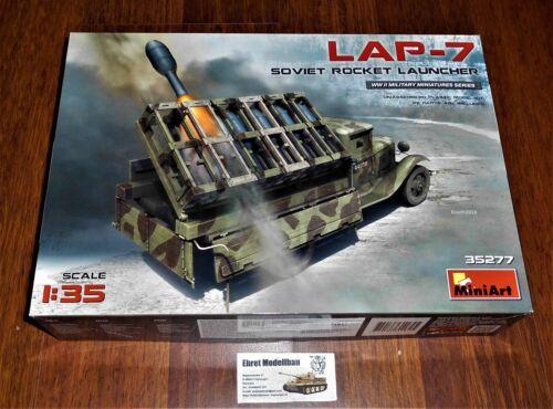WWII russian Truck LKW LAP-7 Rocket Launcher Raketenwerfer  1:35 MiniArt 35277