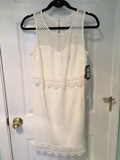 3c51018d item 1 New NWT Guess Women's White Ivory Lattice Lace Popover Sheath Dress  Size 6 -New NWT Guess Women's White Ivory Lattice Lace Popover Sheath Dress  Size ...