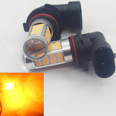 2x(Set) Super Bright 90 LEDS Super Bright Amber Yellow HB4/9006 Fog Light Bulbs