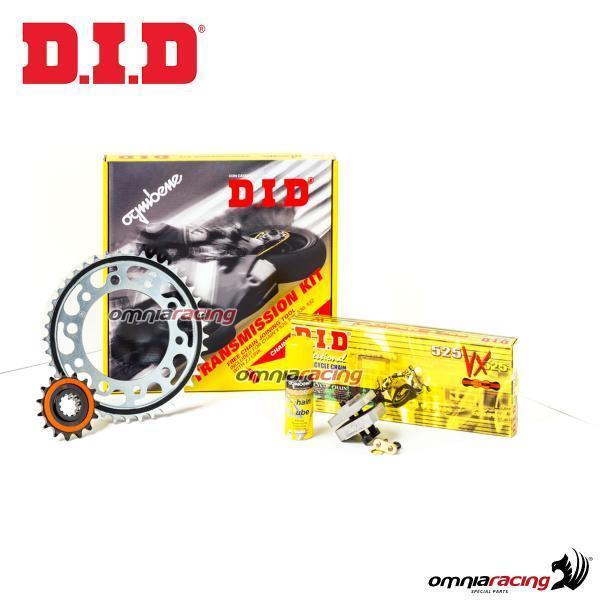 DID Kit trasmiss. pro cadena corona piñón Mv Agusta F4 1000 S/R/RR/RC 10>15*2449