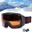 SKIBRILLE-FTWO-fuer-Skihelm-orange-getoent-S2-snowboard-Brille-universell-yx-F2 Indexbild 1