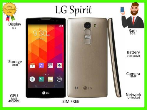 "LG oro 4G 8GB H440n ~ Spirit Desbloqueado ~ 4.7/"" pulgadas 2100mAh cuatro núcleos HD Teléfono inteligente"