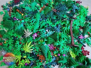 LEGO-75pcs-65g-Mixed-Packs-Foliage-Leaves-Trees-plants-bushes-amp-More
