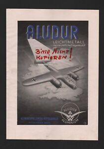 Werbung 1940 Aluminiumwalzwerk Gmbh Aludur Leichtmetall Kraftvoll WutÖschingen