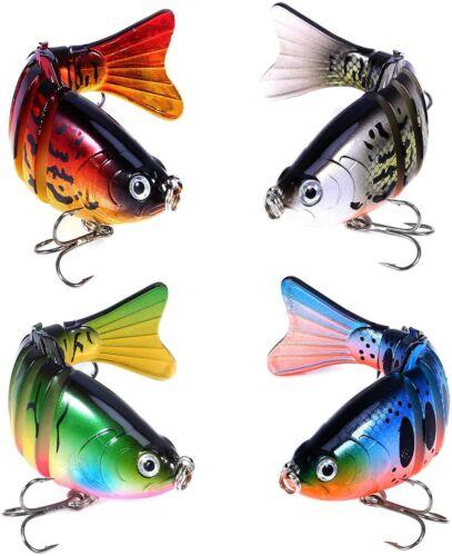 "6PCS 4/""//7 Segment Multi Jointed Swimbaits Slow Sinking Bass Fishing Lures Tackle"