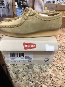 f299e62b New In Box Womens Clarks Wallabees 26103674 Size 10 M US Maple Suede ...