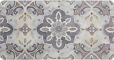 X Large Comfort Non Slip Floor Mat 20 X 39 Pvc Floral Medallion Hd Ebay