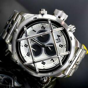 Invicta-Russian-Diver-Nautilus-Cage-Swiss-Mvt-Steel-Silver-52mm-Chrono-Watch-New