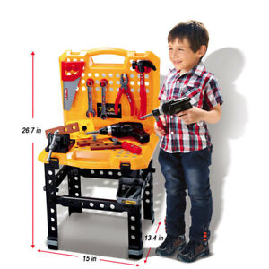 Amazing Details About Toy Power Workbench Kids Tool Bench Construction Set Tools For Boys Toddler Creativecarmelina Interior Chair Design Creativecarmelinacom