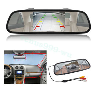 800-480-Car-Rear-View-Mirror-Monitor-For-Parking-Reverse-Camera-New-5-039-039-TFT-LCD