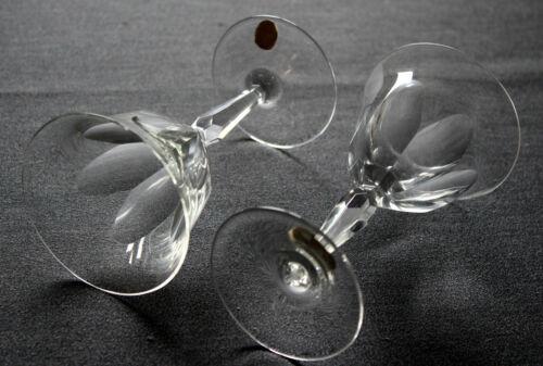 6 Weingläser, Glas, Mundgeblasen Handgeschliffen aus der Glashütte Steigerwald