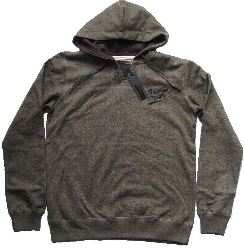 DENIM DEVELOPMENT Sweatshirt mit Kapuze AVERELL Hunter Grau Grösse L XL XXL