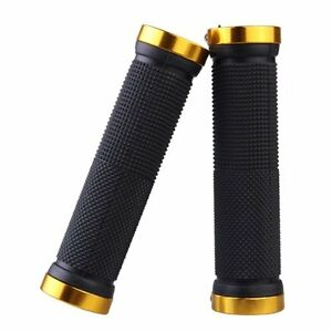 BT-Pair-Mountain-Bike-MTB-BMX-Bicycle-Cycling-Double-Lock-Handlebar-Grips-Golden