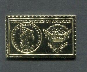 1796 United States Capped Bust 2 1/2 Dollar Numistamp 1979 Medal Mort Reed