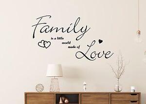 Wandtattoo-Family-little-world-made-of-Love-Wandbild-Aufkleber-Folie-Fenster