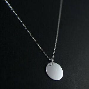 GENUINE-925-Sterling-Silver-15mm-Disc-Delicate-Necklace-UK-New