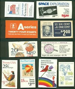U.S. DISCOUNT POSTAGE LOT, 10 assorted booklets, Face $38.96