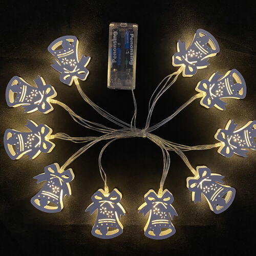 10 LED Christmas Ornaments String Lights Multiple Design Xmas Hanging Pendan Details about  /DI