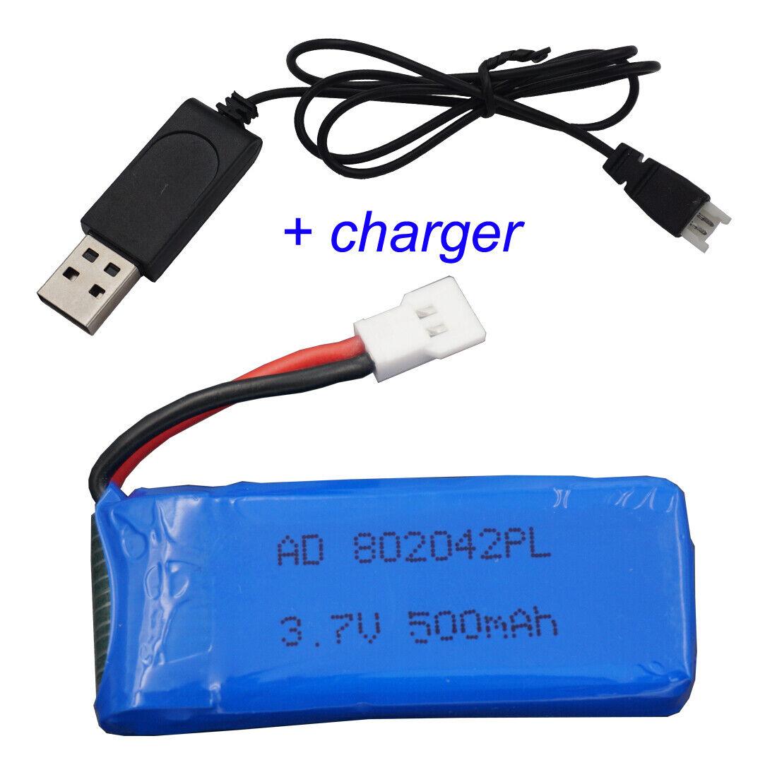 3.7V 500 mAh 25C 802042 Li-Po battery for Hubsan X4 H107L, H107C, H107D RC Drone