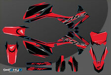 KIT ADESIVI GRAFICHE RACE ONE RED HONDA CRF 450 2013 2014 2015 2016