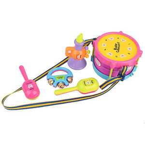 Funny 6pcs Kids Roll Drum Musical Instruments Band Kit Children Toy Gift Set CA