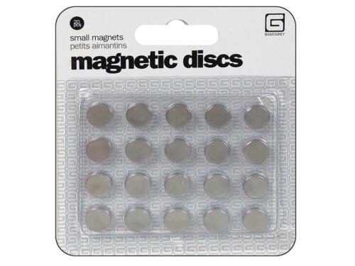 BASICGREY BSGMET.359 BSGMET 359 MAGNETIC DISCS SNAPS SMALL 20PC