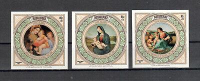 Briefmarken Übersee:5557 Weihnachten & Feiertage Dynamisch Aitutaki Michelnummer Block 46-48 Postfrisch