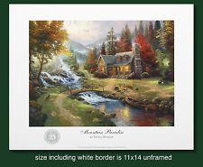 "Thomas Kinkade Original 25th Year Anniversary Print ""Mountain Paradise"""