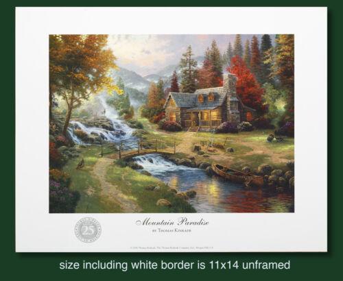 "Thomas Kinkade Original 25th Year Anniversary Print /""Mountain Paradise/"""