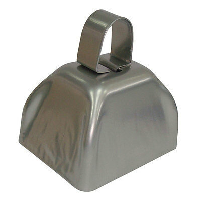 Bulk Lot (72) Silver Metal Cowbell Noisemakers - New Years Party Favor Cow Bells