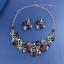 Women-Fashion-Bib-Choker-Chunk-Crystal-Statement-Necklace-Wedding-Jewelry-Set thumbnail 16