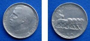 REGNO 50 CENTESIMI 1925 LEONI CONTORNO RIGATO - Italia - REGNO 50 CENTESIMI 1925 LEONI CONTORNO RIGATO - Italia