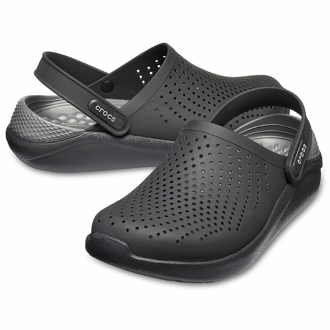 Crocs LiteRide Clog Unisex Erwachsene 204592 schwarz slate grau