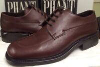 Made In Italy Men's 31143 Brown 4 Eye Oxford Dress Shoes Size 10 D
