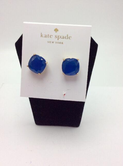 38 Kate Spade Small Blue Square Stud Earrings 149 D
