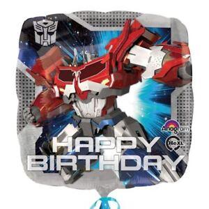 TRASFORMATORI-Optimus-Prima-quadrato-Palloncino-rivestito-festa-di-compleanno