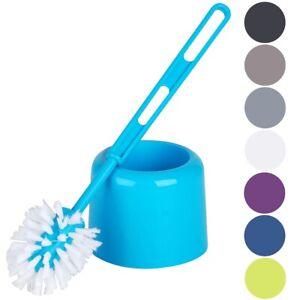 Freestanding Toilet Brush Bathroom Loo Bowl Cleaning Holder Set Coloured Plastic