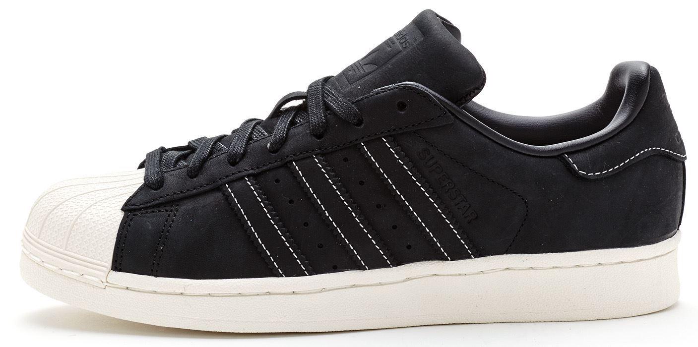 ADIDAS originaux Superstar RT ciré Baskets en noir & blanc s79470