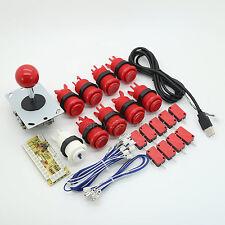 Arcade Game DIY Parts  for Mame Jamma  9 ×  Push Button + 4/8 Way Joystick