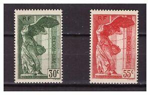 s23503-FRANCE-1937-MNH-Nuovi-National-museum-2v-Y-amp-T-354-355-Samotracia