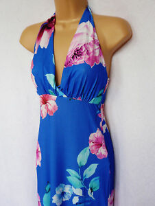 6376806db75 LIPSY jersey summer bright blue floral bold Hawaii cruise hoilday ...