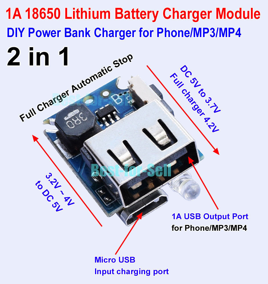 Usb Charge Discharge Board Module For 18650 Lithium Battery Diy How To Make A Nimh Nicd Charger Circuit Homemade Norton Secured Powered By Verisign
